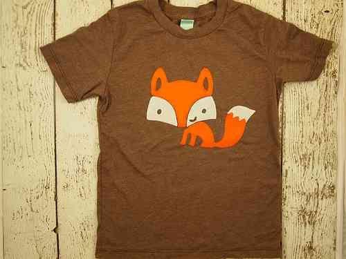 Woodland tshirtfox shirt retro children's tee boys and girls tshirt infant toddler youth on Etsy, $30.00