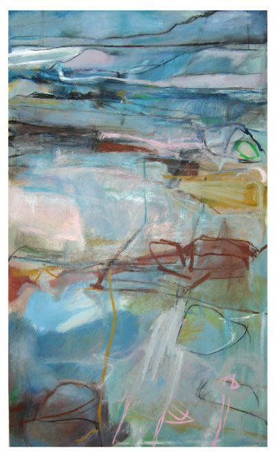 'Iridescent Dream', Janine Baldwin, oil & charcoal on canvas, 123 x 73cm  www.janinebaldwin.com