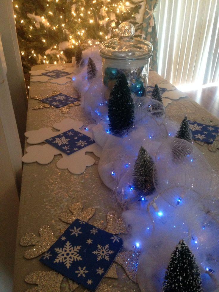 Frozen birthday party ou très bien pour un noel bleu et argent