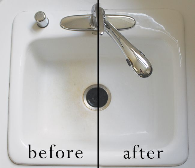 how to clean a white kitchen sink best 25 cleaning porcelain sink ideas on 9324