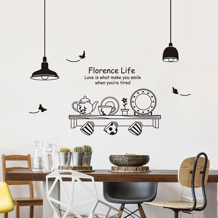 Wall Stickers Dining Room Decor, Wall Decor Stickers For Dining Room
