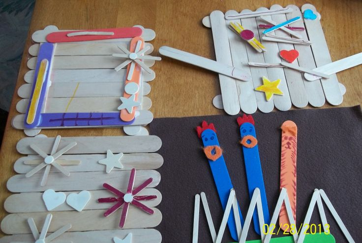 Craft Ideas 4 Year Olds Made The Bases Out Of The Craft