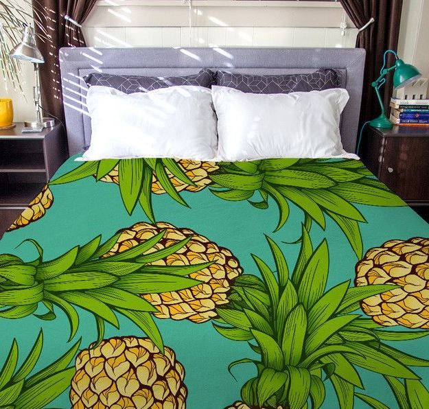 Pineapple Bedding Sets! Discover the best pineapple themed bedding, comforters, quilts, and duvet covers at Beachfront Decor.