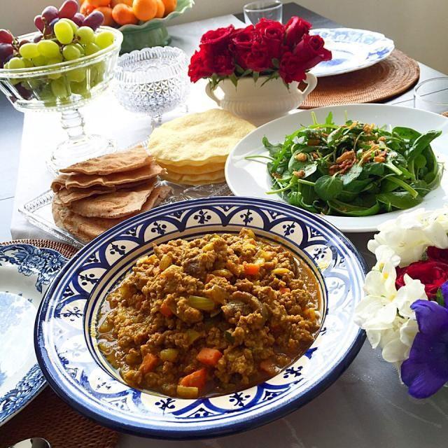 牛挽肉と冷蔵庫掃除の野菜でドライカレー♪ - 11件のもぐもぐ - ドライカレーランチ by lunita