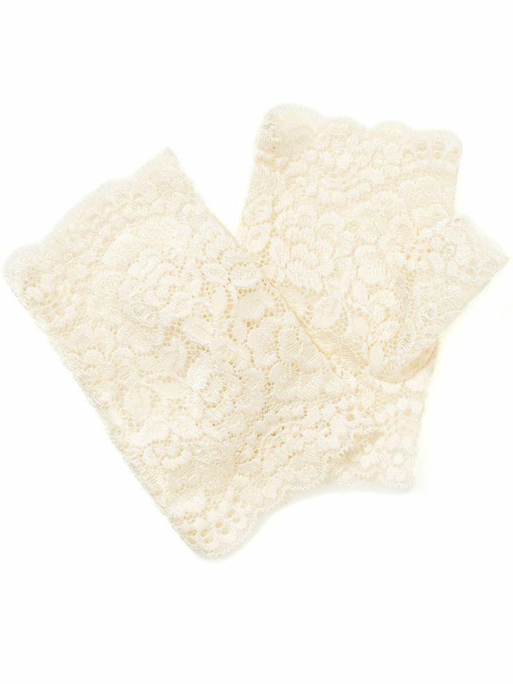 Scalloped Edge Lace Cut Off Glove | White | Accessorize, 13,90e