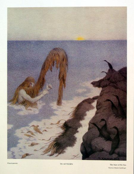 Theodor Kittelsen - The man of the sea
