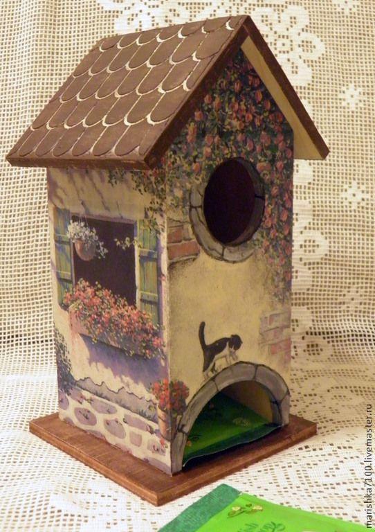 """Чайный домик """"Итальянский дворик"""". - декупаж работы,кухня,чайный домик So cute for a bird house."""