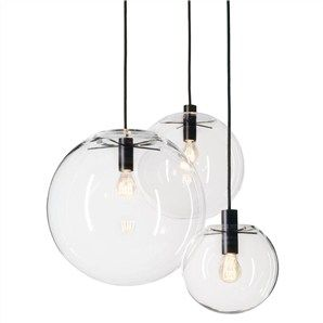Doris Hand Blown Glass Globe Pendant Light - Medium