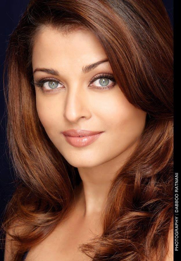 aishwarya rai bachan   brown hair and green eyes