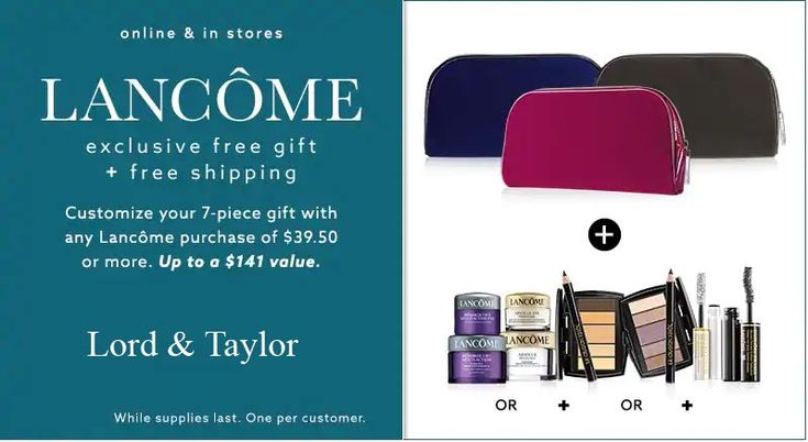Gift with purchase offers in stores