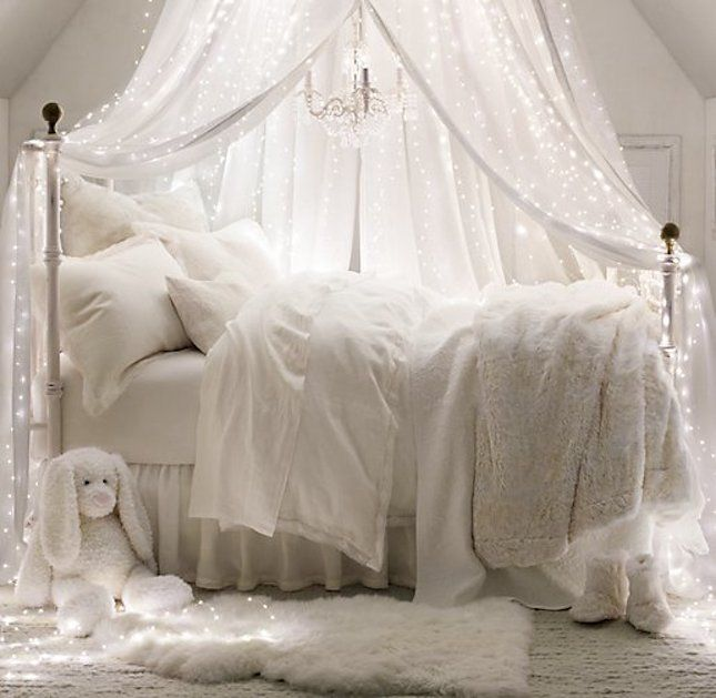 if kid was afraid of dark.How You Can Use String Lights To Make Your Bedroom Look Dreamy