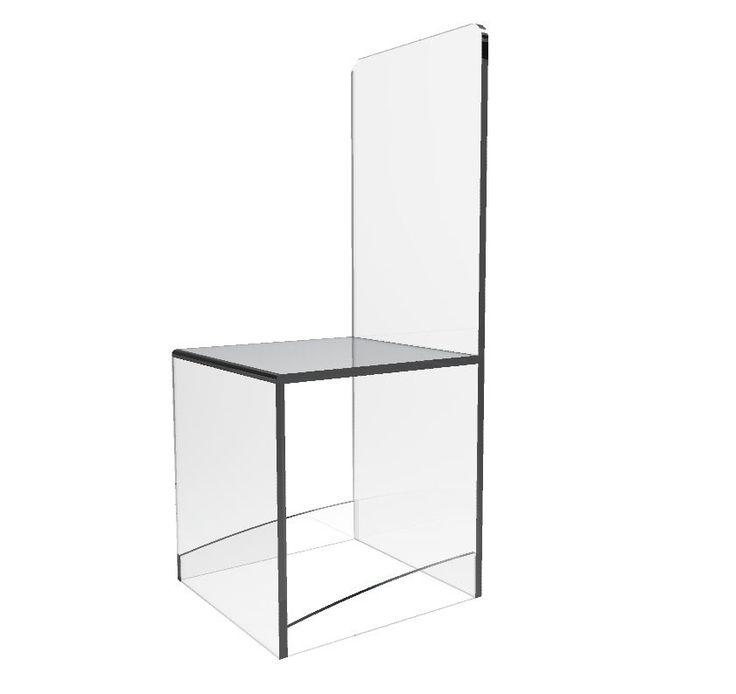 Clear Acrylic Chair Lucite Plexiglass Chair Ghost Chair Tradeshow Dining Chair | eBay