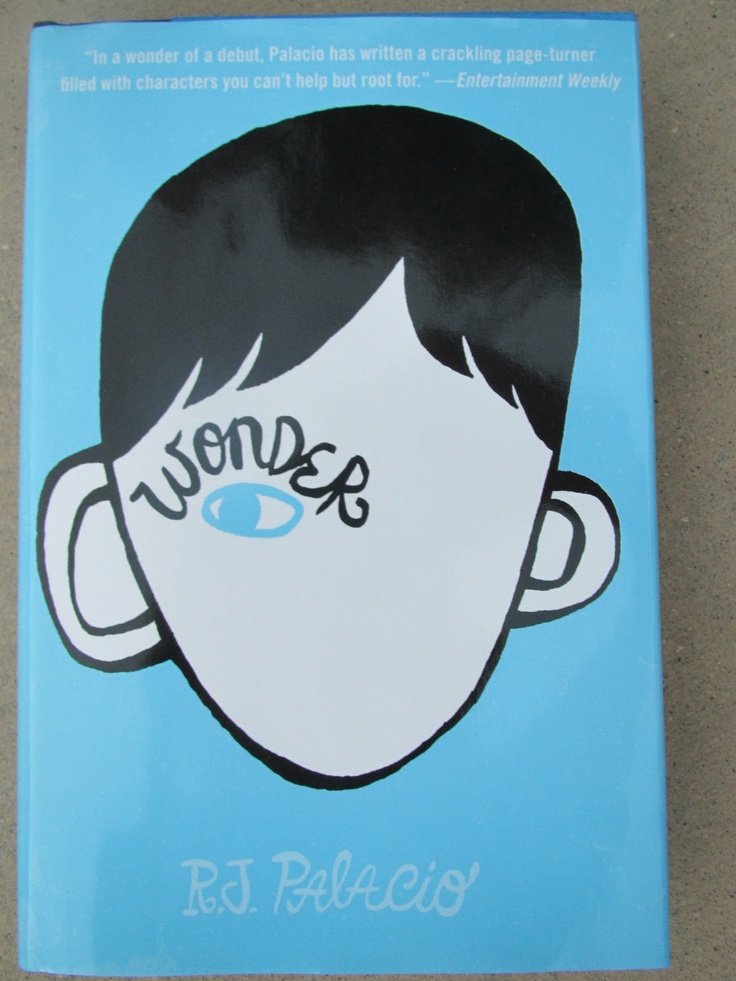 """The book Wonder.... about a student who has a facial deformity.  Great to use with talking about """"bullying""""."""