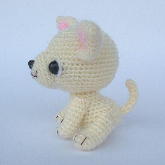 Chihuahua Tea Cup Puppy PDF Crochet Pattern van jaravee op Etsy