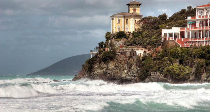 Castiglioncello, a small town in Italy, Tuscany. Located on a promontory in Tirenskogo sea. Tourist center.