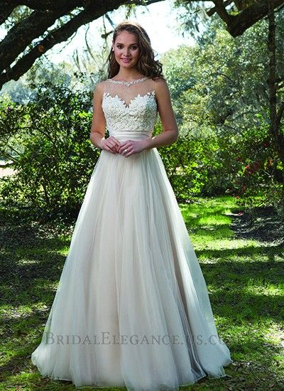 Sweetheart by Sincerity 6169 The girly details of the embellished illusion neckline, lace bodice, illusion back, and full tulle skirt will make you feel charming.