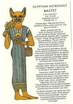 Zodiac Unlimited Egyptian astrology postcard: Bastet