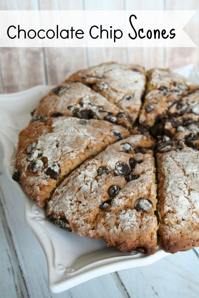 Perfect Vegan Chocolate Chip Scones. They were really easy to make and my whole family loved them!