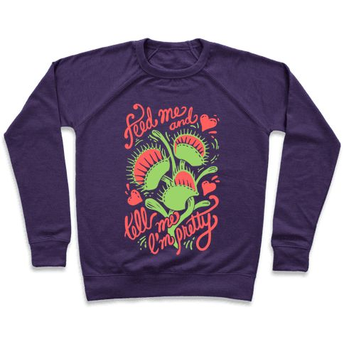 """Venus Fly Trap: Feed Me And Tell Me I'm Pretty - This venus fly trap says """"Feed Me And Tell Me I'm Pretty!"""" The perfect venus fly trap art to gift as a gift for gardeners, or for yourself, you cute little green thumb you. Venus fly traps are awesome carnivorous plants and deserve love too."""