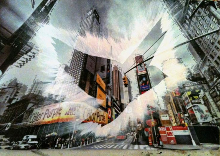 PeaceBomb City Landing Handpainted acrylics on canvas... Credit: Marisha Gulmann (Click to Support Artist) #art #artist #peacebomb #peace #miaawcom #support #city