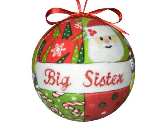 Big Sister Christmas Ornament Quilted Holiday by CraftCrazy4U