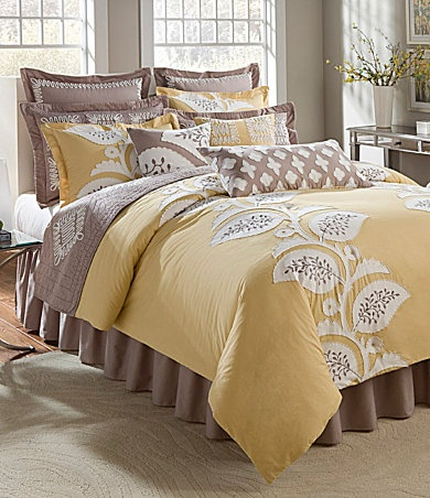 35 best images about yellow and grey bedding on pinterest for Yellow grey brown decor