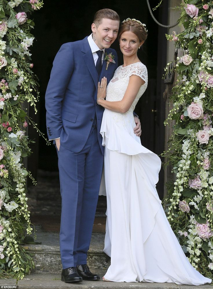 Millie Makintosh + Professor Green's Wedding - love Millie's halo braid crown and Temperly gown.