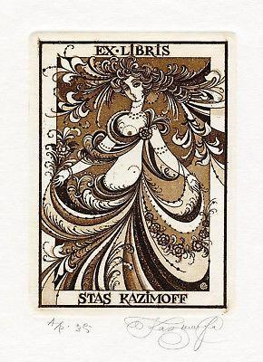 Dancing-Semi-nude-Ex-libris-Free-Graphic-Etching-by-Nina-Kazimova-Russia