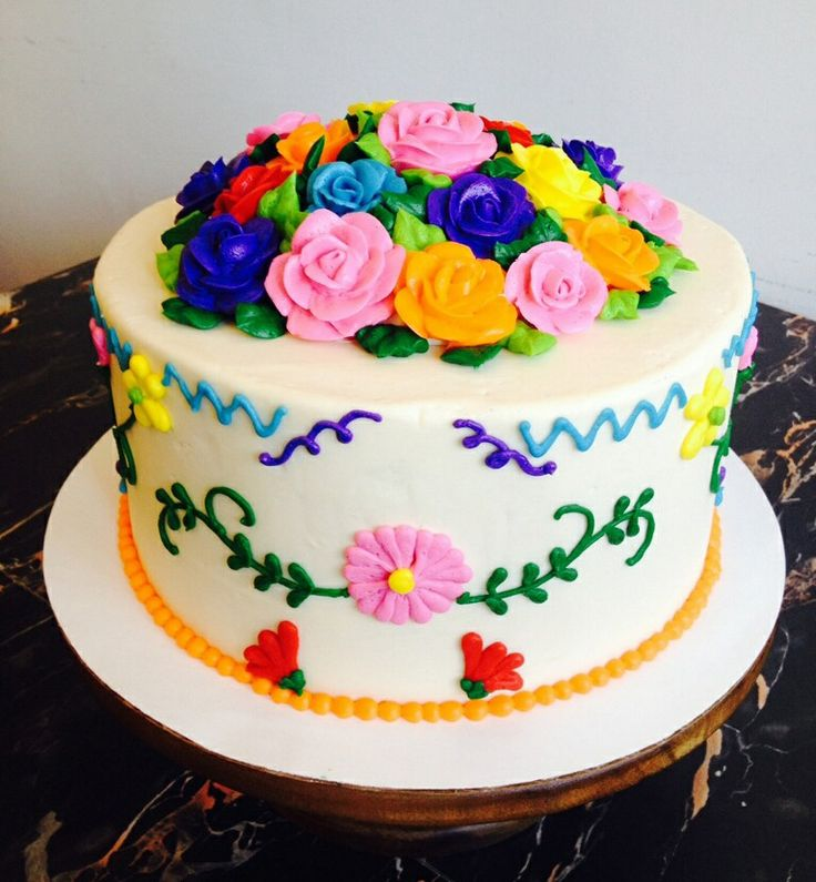 Cute Mexican themed cake. #bigsugarbakeshop