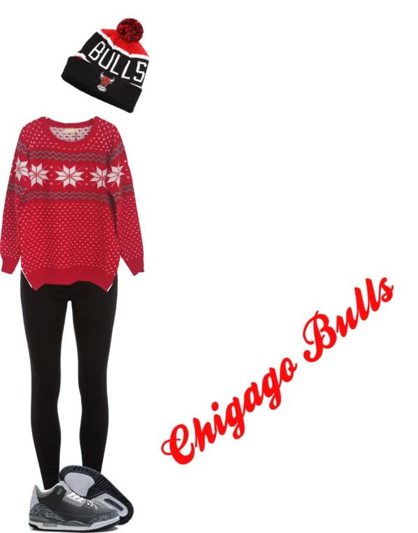"""ChigaGo BullS #"" by tatianasemedo ❤ liked on Polyvore"