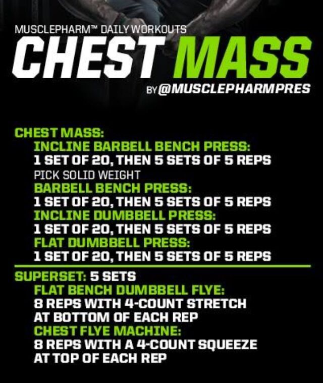 Chest mass Workout   Posted By: NewHowToLoseBellyFat.com