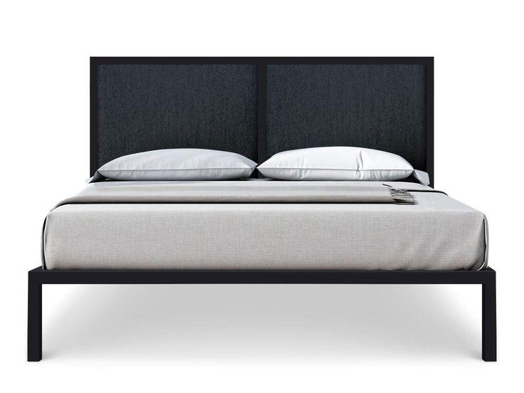 Lit + sommier 140cm + tête de litColoris GRISLe lit SWEET est un lit complet avec structure et sommier en métal, le tout joliment décoré par une tête de lit avec...