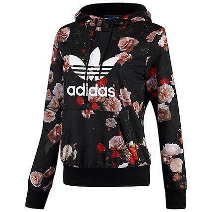 Adidas Flower Print Hoodie