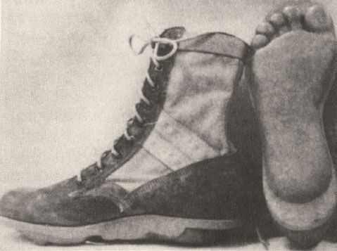 """The Army's experimental """"barefoot boot"""" was designed to leave the imprint of native feet by Special Forces patrol members.  #VietnamWarMemories"""