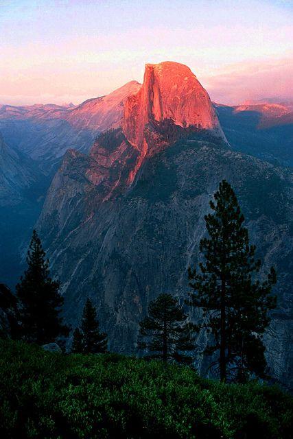 Halfdome at Sunset, Glacier Point, Yosemite | Flickr - Photo Sharing!