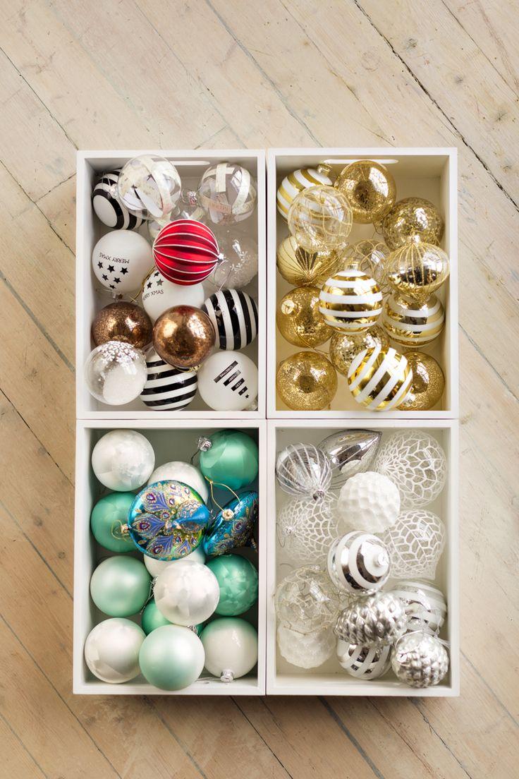 Julekule striper gull   Kremmerhuset