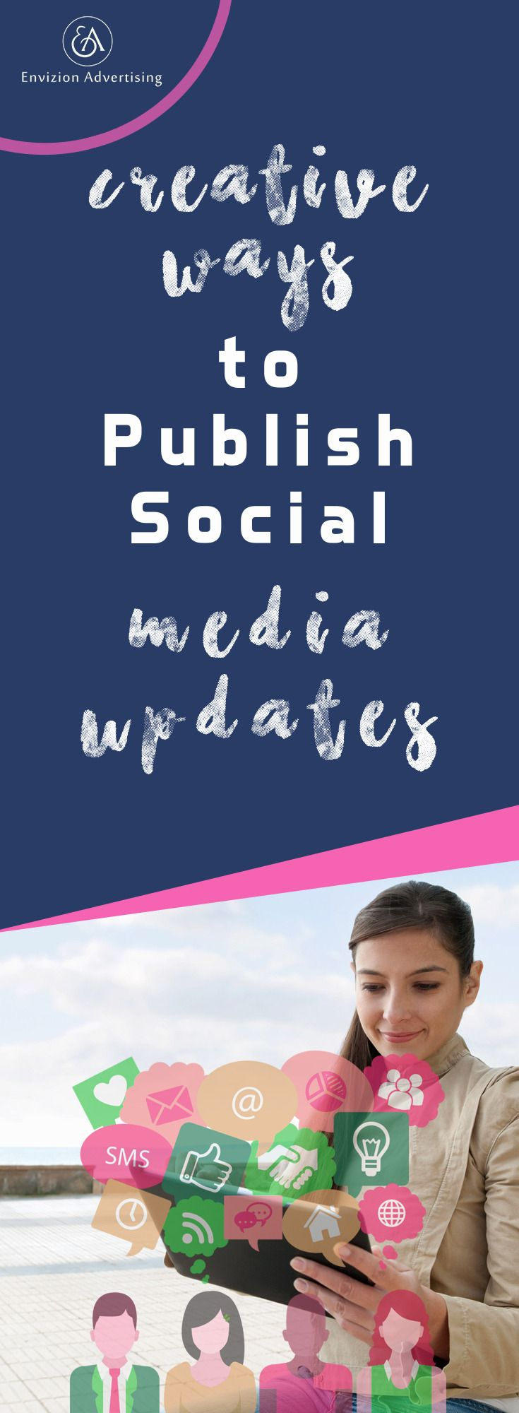 Learn some great and creative ways to publish social media updates: http://www.envizionadvertising.com/social-media/creative-ways-to-publish-social-media-updates/