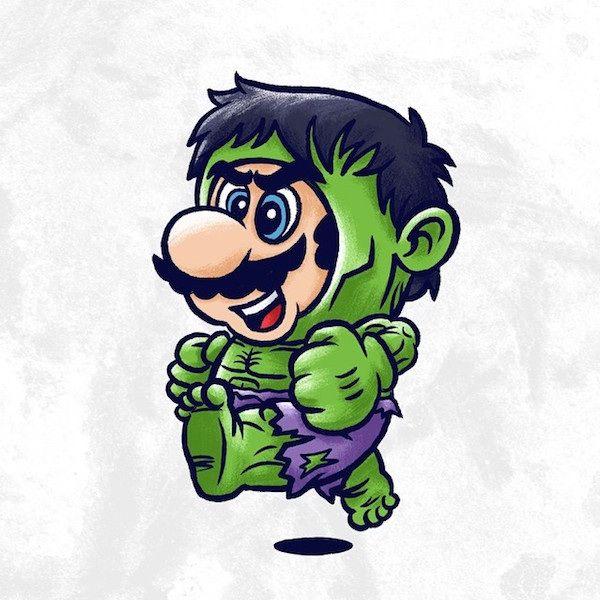 Super Mario #rediseñado como personajes de la cultura #pop