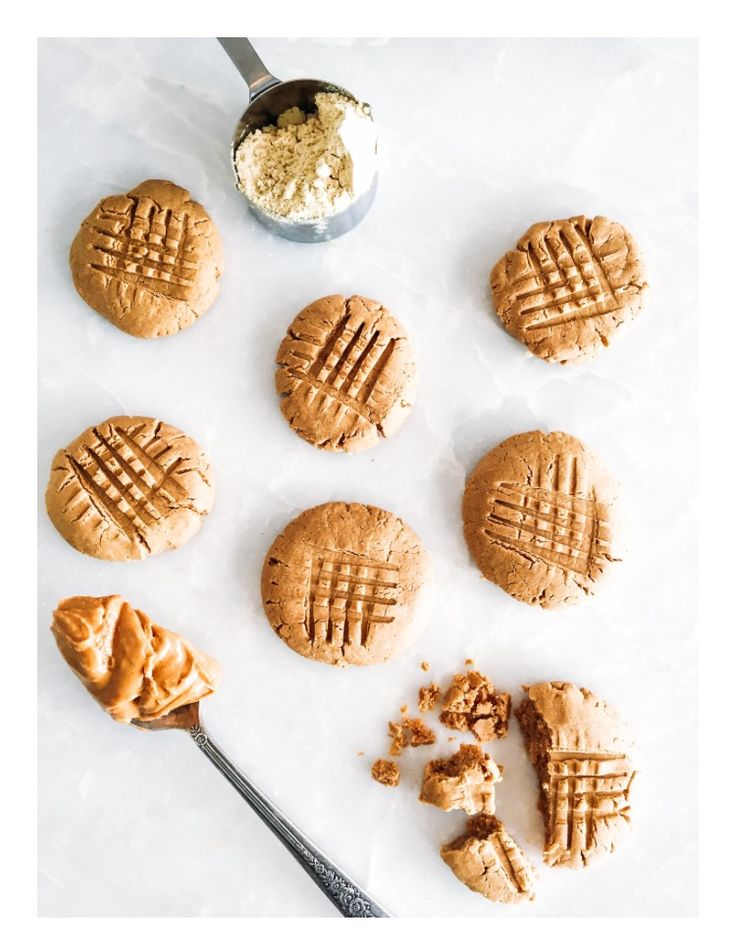 TIU 10 Minute Cookies  12 servings/146 cals/8g protein  2 scoops Perfect Fit Protein 1/4 cup egg whites 1 cup peanut butter   Mix ingredients well and shape into 2tbs balls - flatten with fork  Bake at 350 for 10 minutes and voila!