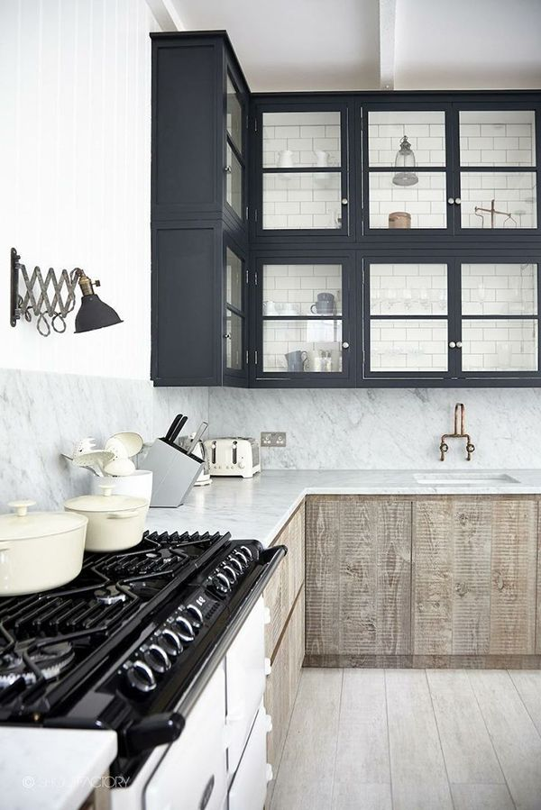 rustic + modern kitchen #design
