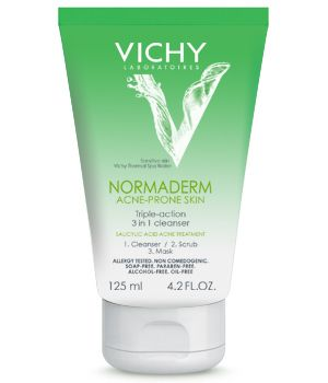 Vichy Normaderm 3-in-1 Cleanser, Exfoliant, and Mask | 17 French Drugstore Beauty Products That Actually Work