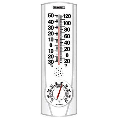 HAVE: Springfield Vertical Thermometer and Hygrometer