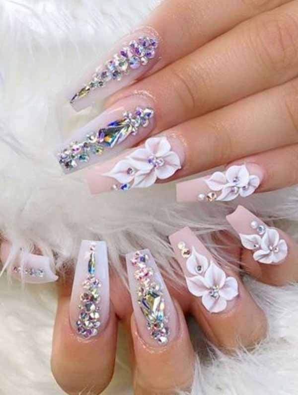 22 More Enriched Coffin Acrylic Nail Art Must Try Nailart With