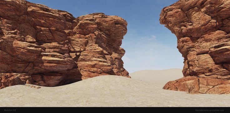 ArtStation - Modular Cliff, David DeCoster
