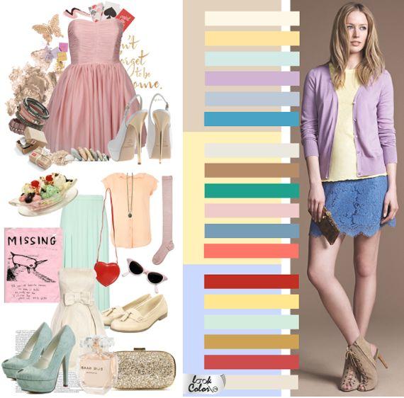 Цветовая гамма романтического стиля в одежде Романтический стиль одежды допускает шеcтицветовую гамму за счет комбинирования тканей с рисунком. Но это не значит, что более простые гаммы должны игнорироваться. Романтика в этом стиле достигается за счет мягких, трепетных постельных тонов в сочетании с более смелыми, но столь же наивными оттенками. Темные тона, за исключением  черного, практически не используются.