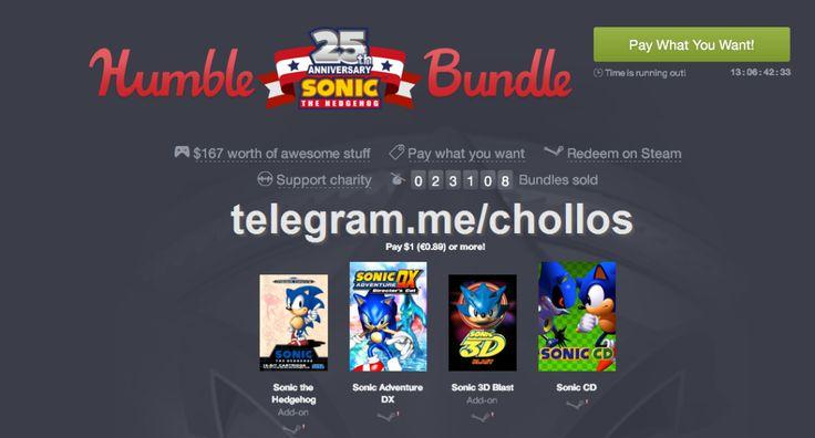 4 juegos Sonic 25 aniversario para Steam por 089 - http://ift.tt/28Nab6M