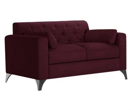 Canapea 2 locuri Vanity Crimson