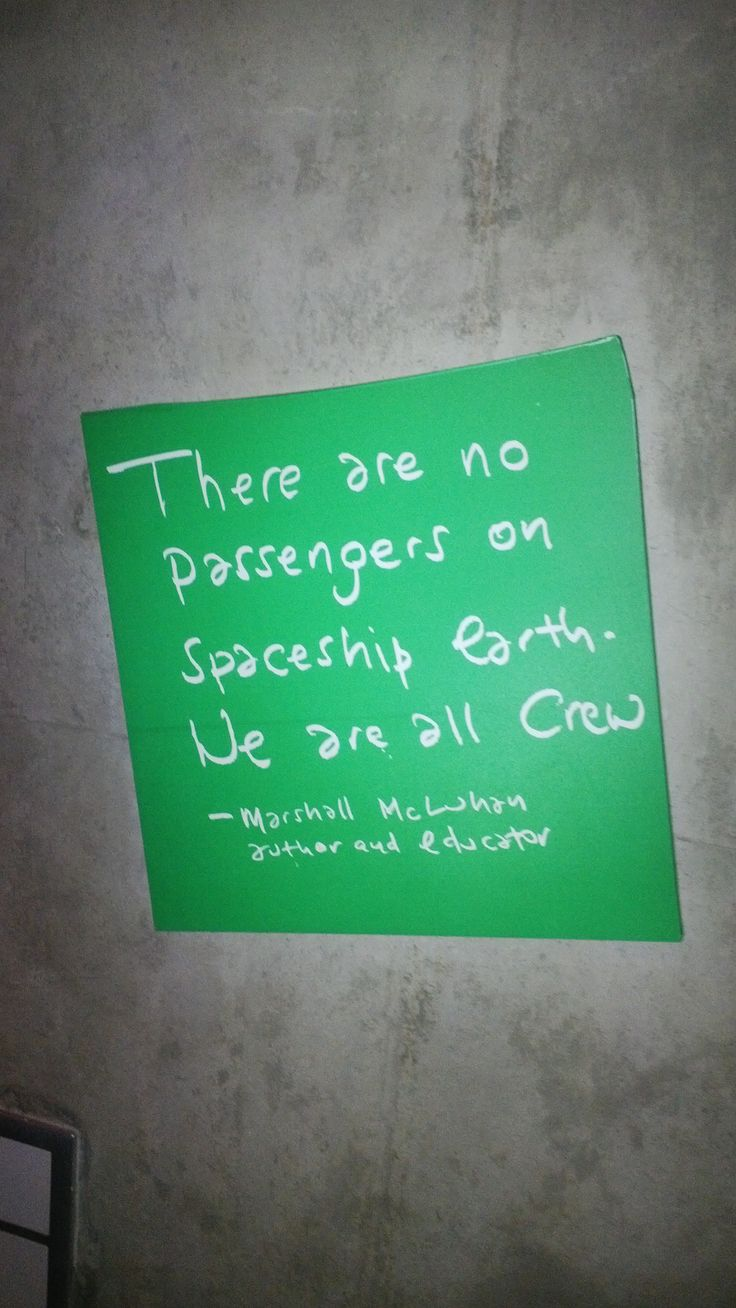 Beautiful quote on the wall of Cradle of Humankind