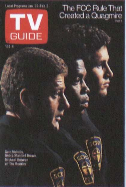 Vintage TV Guide Covers   The Rookies - tv guide cover - Sitcoms Online Photo Galleries