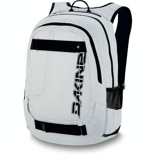 "Dakine Division Pack Skate Backpack, Stone by Dakine. Save 40 Off!. $32.97. Fleece lined sunglass pocket. Padded sleeve fits most 15"" laptops. Heavy duty skate carry. Organizer pocket. Mesh side pockets. DaKine Skate Laptop Backpack"